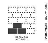 dream big act small glyph icon... | Shutterstock . vector #1092940088