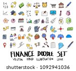 hand drawn sketch doodle vector ... | Shutterstock .eps vector #1092941036