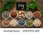 foods rich in magnesium as... | Shutterstock . vector #1092941189