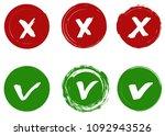 tick and cross vector signs ...   Shutterstock .eps vector #1092943526