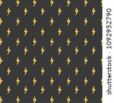 thunder pattern vector. free...   Shutterstock .eps vector #1092952790