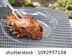 grilled juicy beef meat. meat...   Shutterstock . vector #1092957158