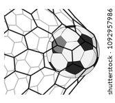 soccer ball in a grid.   Shutterstock . vector #1092957986