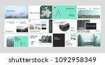 original presentation templates ... | Shutterstock .eps vector #1092958349