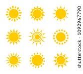 sun icons. vector illustration | Shutterstock .eps vector #1092967790