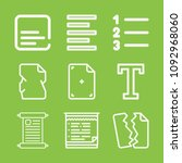 text icon set   outline... | Shutterstock .eps vector #1092968060