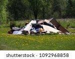 Small photo of big rubbish trash pile enviroment disaster