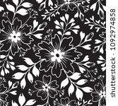 floral seamless vector patter.... | Shutterstock .eps vector #1092974858