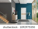 modern home entrance with front ... | Shutterstock . vector #1092975350