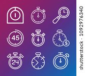 time icon set   outline... | Shutterstock .eps vector #1092976340