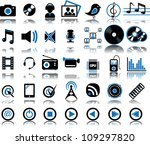 set from 35  thirty five ... | Shutterstock .eps vector #109297820