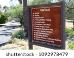 desert park rules sign | Shutterstock . vector #1092978479