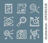 analysis icon set   outline... | Shutterstock .eps vector #1092981518