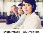 portrait of confident young... | Shutterstock . vector #1092985286