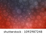 dark red vector cover with... | Shutterstock .eps vector #1092987248