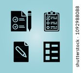 filled paper 4 vector icons set....