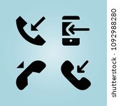 filled telephone 4 vector icons ... | Shutterstock .eps vector #1092988280