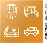vehicle icon set   outline... | Shutterstock .eps vector #1092990440