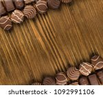 beautiful creative chocolate... | Shutterstock . vector #1092991106