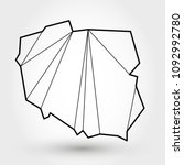black outline map of poland ... | Shutterstock .eps vector #1092992780