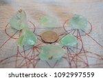 tumbled green calcite. lovely...   Shutterstock . vector #1092997559