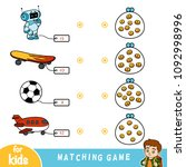matching education game for... | Shutterstock .eps vector #1092998996