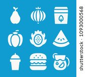 food related set of 9 icons... | Shutterstock .eps vector #1093000568