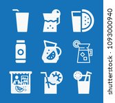 filled set of 9 juice icons... | Shutterstock .eps vector #1093000940