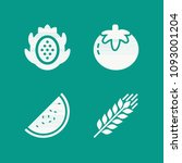 fruit related set of 4 icons... | Shutterstock .eps vector #1093001204