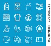 food related set of 16 icons... | Shutterstock .eps vector #1093001258