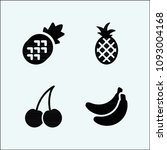 fruits related set of 4 icons... | Shutterstock .eps vector #1093004168