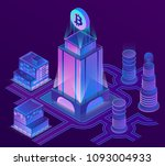 vector 3d isometric city in... | Shutterstock .eps vector #1093004933