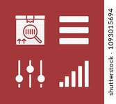filled set of 4 lines icons...   Shutterstock .eps vector #1093015694