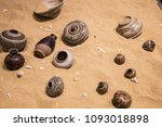 ancient pottery in asia.   Shutterstock . vector #1093018898