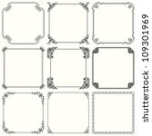 vector decorative frames  set... | Shutterstock .eps vector #109301969