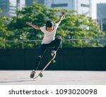 skateboarder sakteboarding at... | Shutterstock . vector #1093020098