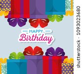 happy birthday celebration card ... | Shutterstock .eps vector #1093023680