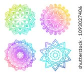 a set of bright mandalas with... | Shutterstock .eps vector #1093027406