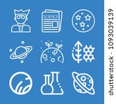 set of 9 science outline icons... | Shutterstock .eps vector #1093039139