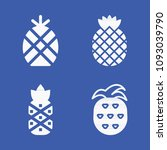 set of 4 fruits filled icons... | Shutterstock .eps vector #1093039790