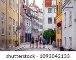 beautiful bright cityscape in...   Shutterstock . vector #1093042133