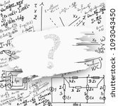 mathematical equations and... | Shutterstock .eps vector #1093043450