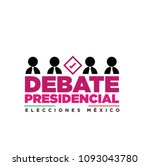 presidential debate. elections... | Shutterstock .eps vector #1093043780