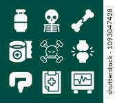 set of 9 medical filled icons...   Shutterstock .eps vector #1093047428