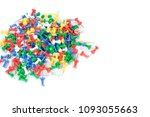 stationery color pins used in... | Shutterstock . vector #1093055663