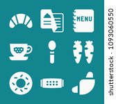 set of 9 food filled icons such ... | Shutterstock .eps vector #1093060550
