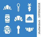 set of 9 food filled icons such ... | Shutterstock .eps vector #1093061018