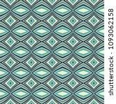green geometric pattern in... | Shutterstock . vector #1093062158