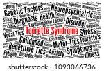 tourette syndrome word cloud | Shutterstock . vector #1093066736