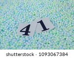 the number 41 of the piece of... | Shutterstock . vector #1093067384